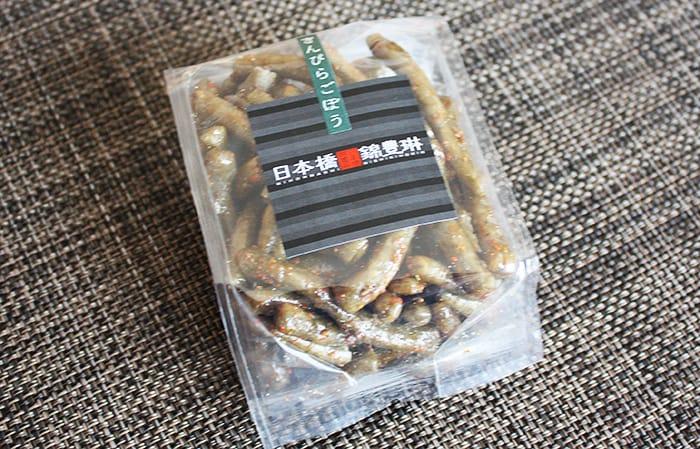日本橋錦豊琳のかりんとうのきんぴらごぼうが美味しい!