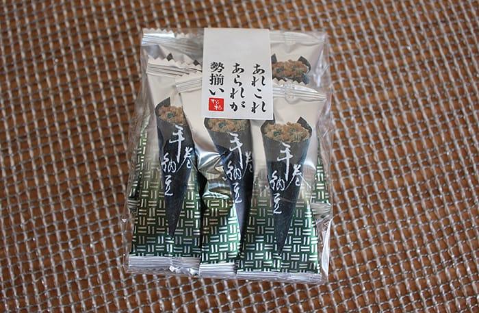 あられ松福の手巻き納豆