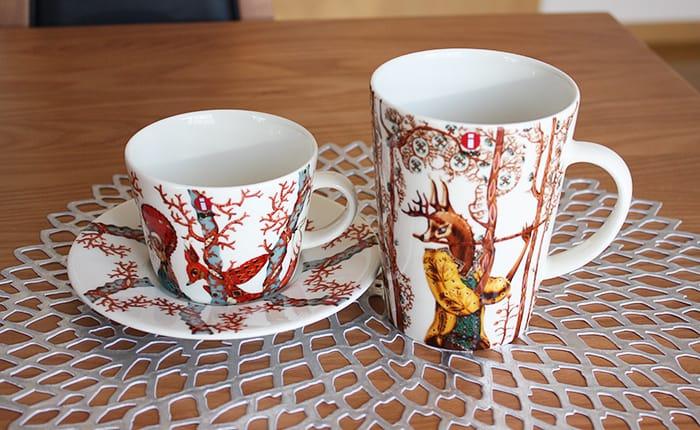 イッタラのタンシ マグとカップ&ソーサー