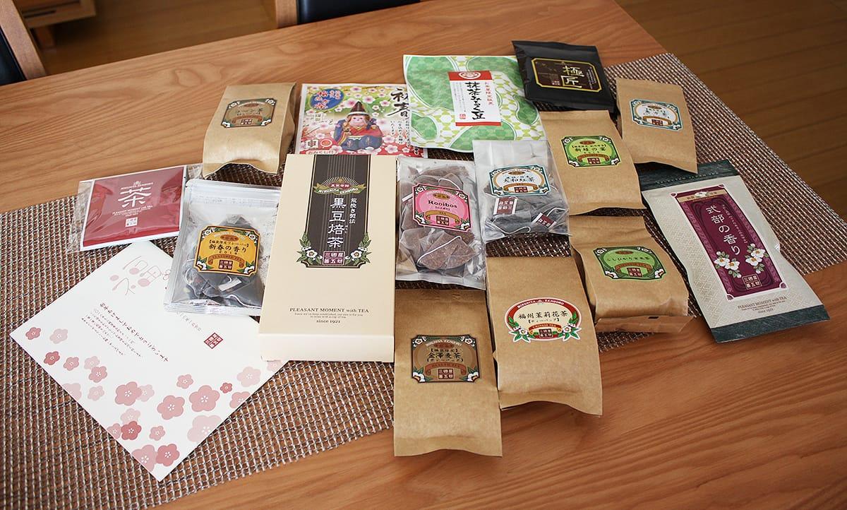 三國屋善五郎の福袋に人気茶15種類