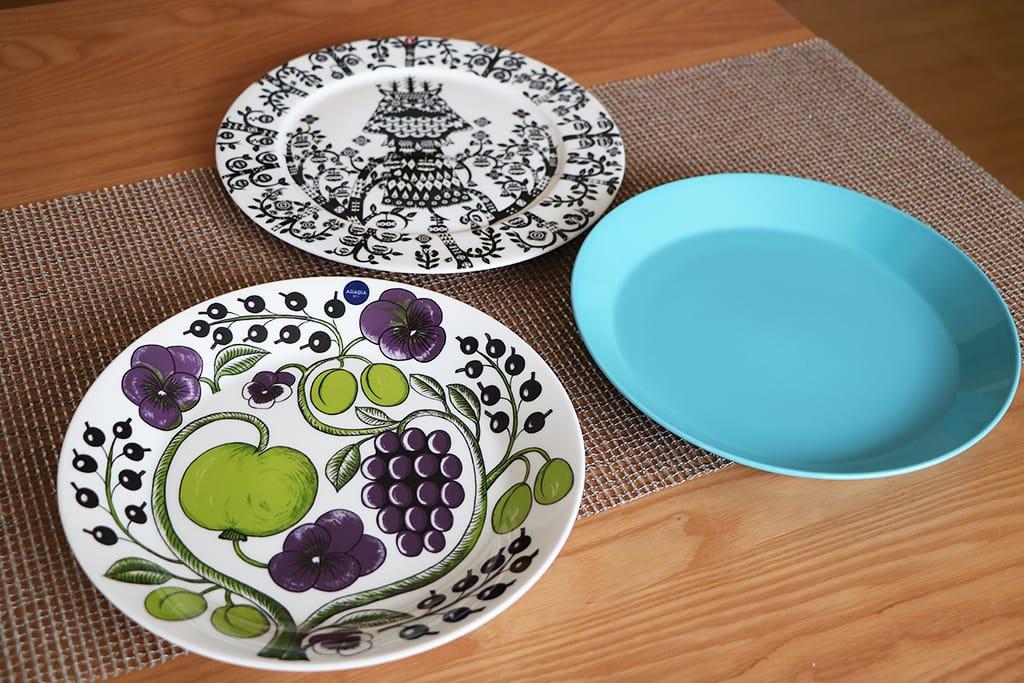 アラビアのパラティッシ お皿の比較